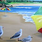 """At the beach"" Birds eye view by Taniakay"