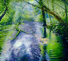 Rainforest Stream by Dai Wynn