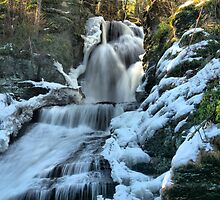 Dingmans Falls In Winter by Stephen Vecchiotti