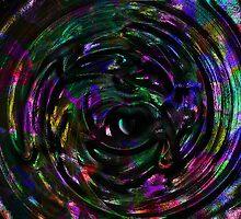 Carnival Glass Teardrop Heart Swirl by shutterbug2010