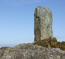 Standing Stone in Wales Holyhead by leunig