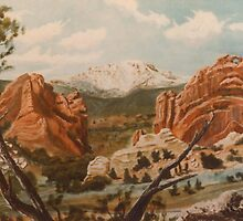 Pikes Peak,Garden of the Gods,Colorado Springs, by Gordon Pegler