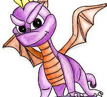 my spyro the dragon drawing by xxnatbxx