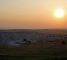 Sunset in the Badlands  by Bonnie Robert