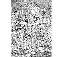 Alice And The Hookah Smoking Catterpillar Photographic Print
