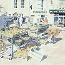At the Saturday Market, Montbron, France by ian osborne