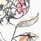 Japanese Flower In Flight by Margarita Mascaró