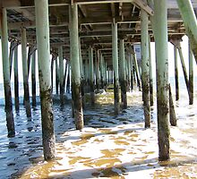 Under the Pier in Old Orchard Beach, ME by quiltmaker