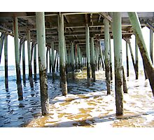 Under the Pier in Old Orchard Beach, ME Photographic Print