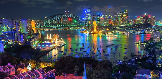 """Wonderland"" -  Sydney Harbour (Panoramic) - The HDR Experience by Philip Johnson"