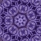 Purple Swirls by Elaine Teague