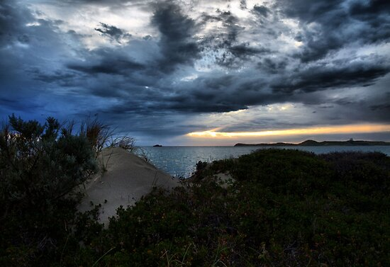 Storm Clouds In The Bay by Jon Staniland