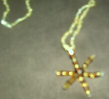 In Browns and Golds Glitzy Glass Snowflake Type Necklace by anaisnais