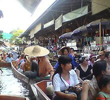 Floating Market In Bangkok by janetfcw