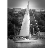 Yachting on the River Fowey  Photographic Print