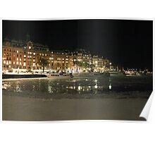 Travel harbor of Tourists  (Stockholm, Sweden) Poster