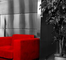 Red chair by Arve Bettum