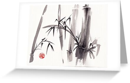 'after the rain'  - original ink and wash painting by Rebecca Rees