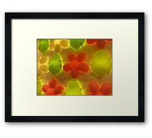 glowing 6 Framed Print