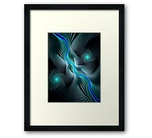Abstract Waves and Spirals + Parameter Link Framed Print
