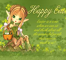 Easter Card - Cute Centaur With Easter Basket  by Moonlake
