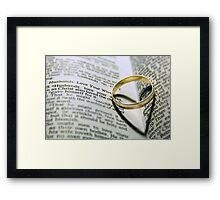 Her heart is his Framed Print