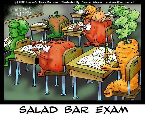 Salad Bar Exam by Londons Times Cartoons by Rick  London