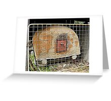 Anthill oven, Laidley, Qld. Australia Greeting Card