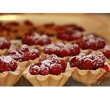 Home made raspberry tarts Photographic Print