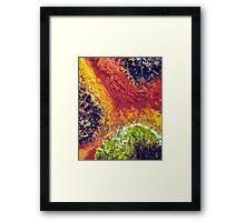 Sacred Ground - Earth Tone Orange Green Art Print Framed Print