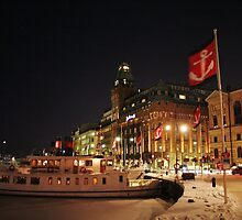 Harbor Flags  (Stockholm, Sweden) by Antanas