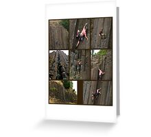 Climbing the Columns on Skinner Butte Greeting Card