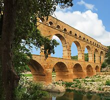 Pont du Gard by Inge Johnsson