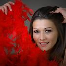Red feathers  by Aleksandra Misic