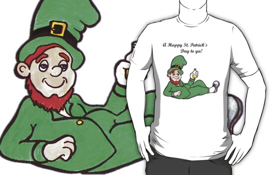 St Patrick's Day t-shirt by Margaret Sanderson