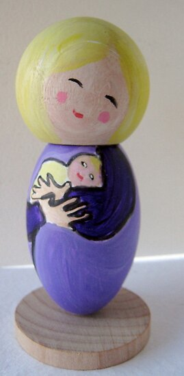 Little Mama - purple by Suzi Linden