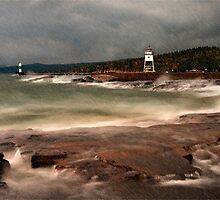 Rainy Day at Grand Marais by JimGuy