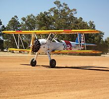 Boeing Stearman at Take-off by Stephen Horton