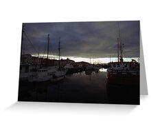 Hobart Harbour Sunrise Greeting Card