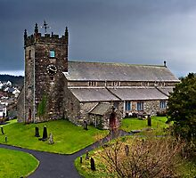 Hawkshead Church, Cumbria by David Lewins