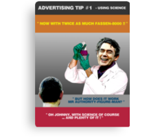 ADVERTISING TIP #1 - Using Science Canvas Print
