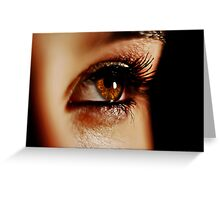 Brown Eyed Girl Greeting Card