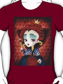 Queen of Hearts T-shirt (w/background) T-Shirt