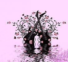 Guitars & Roses ~ Pink by Beatriz  Cruz