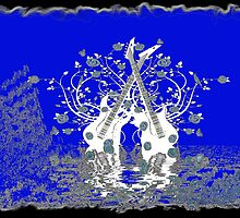 Guitars & Roses ~ Blue by Beatriz  Cruz