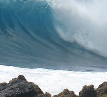 Big Wave, Big Island by ronholiday