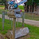 Chainsaw Letterbox by Josie Jackson