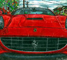 Chesire Cat grin Ferrari California. by SteveBrandon