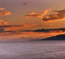 Panorama of Utah Lake Sunset by Ryan Houston
