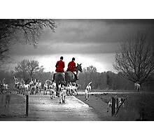 Red Riding Coats Photographic Print